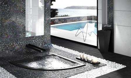 Polished Pebbles, Decor Glass, Noir