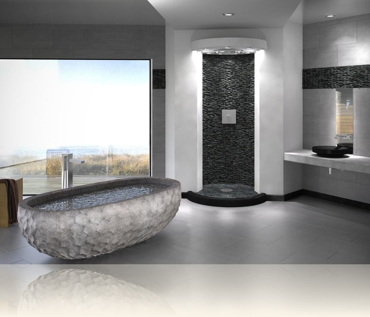 Stacked Wall Pebbles, Black