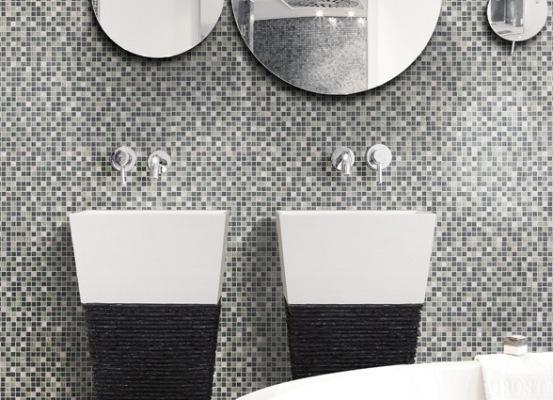 Metal Mosaic, Brshd Alum. Grey