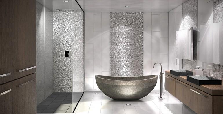 Inox Mosaic, Brushed Stainless Steel