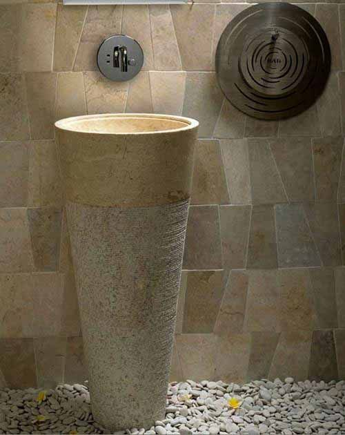 White Bowl Washbin Pedestal
