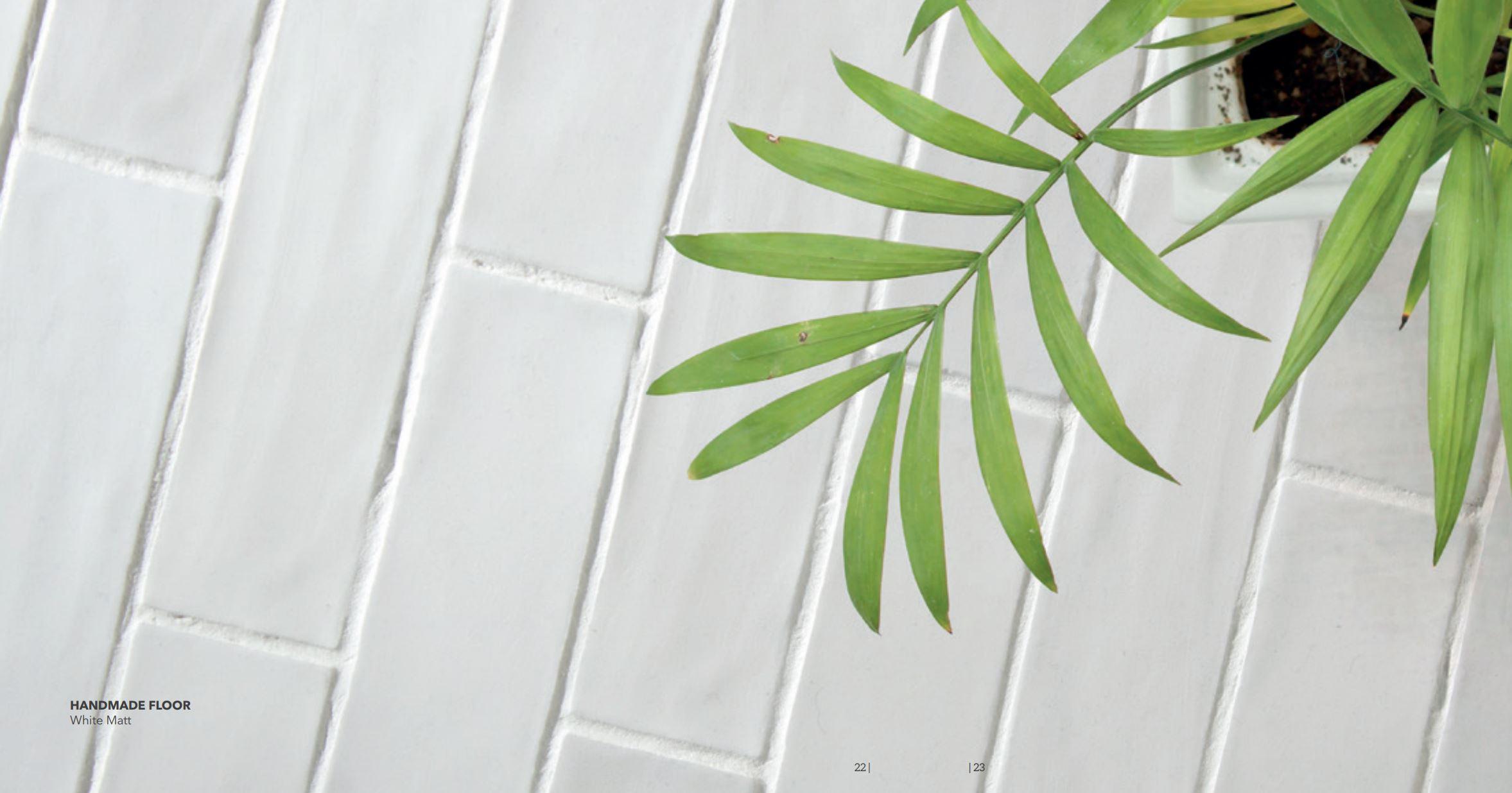 Briques White Matte Floor Tile