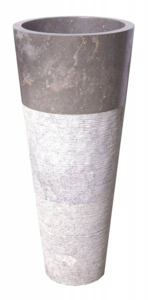 Grey Bowl Washbin Pedestal