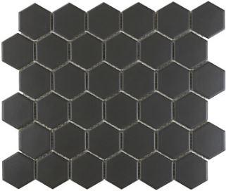 Graphite Matte Hex Mosaic