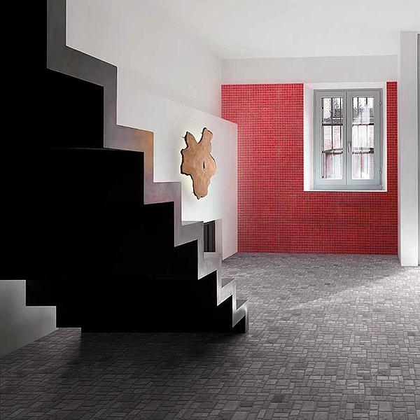 Glass Mosaic, Glossy Red;