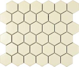 Ivory Matte Hex Mosaic