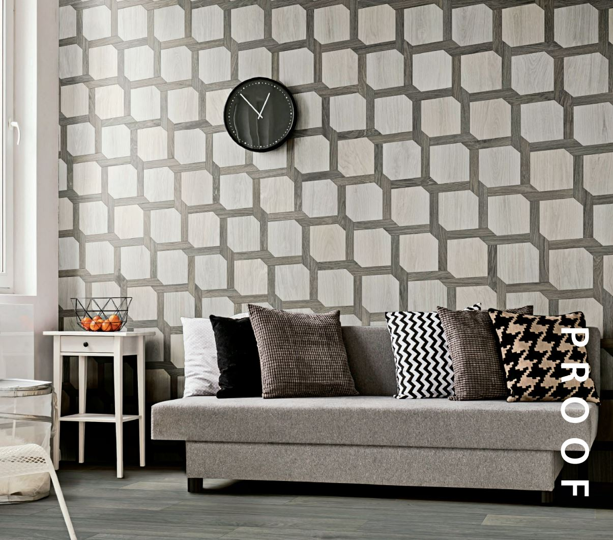 Twist Mosaic Shown on Wall