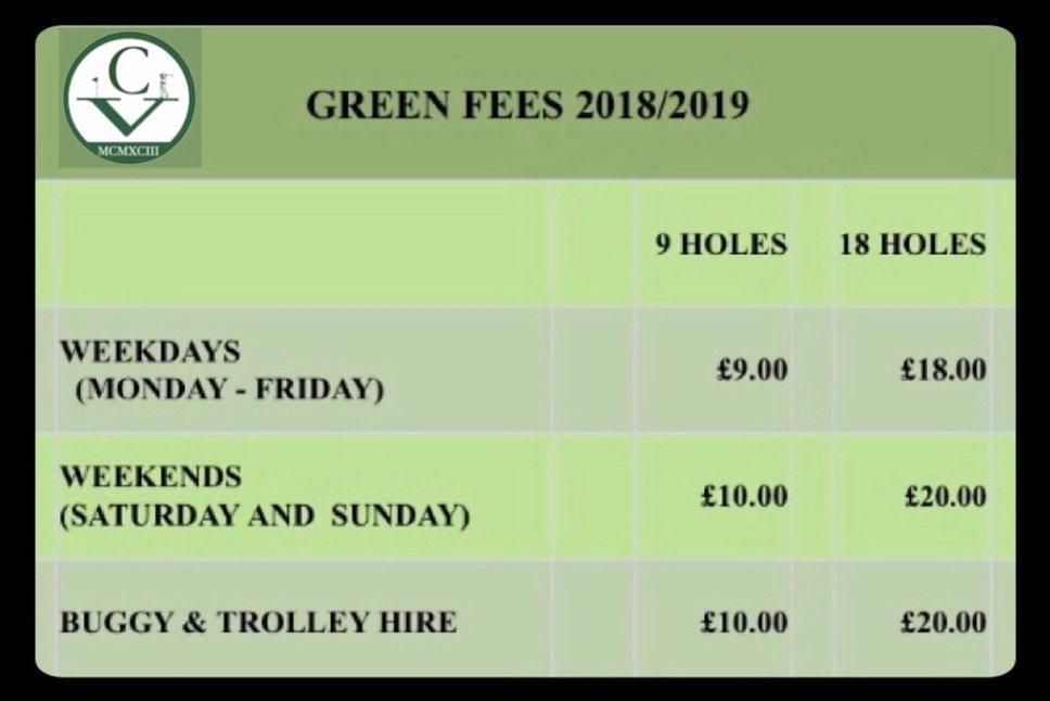 Green Fees 2018/2019
