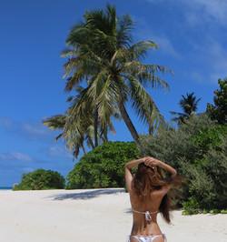 Demi Mann in the Maldives at the Beach Resort