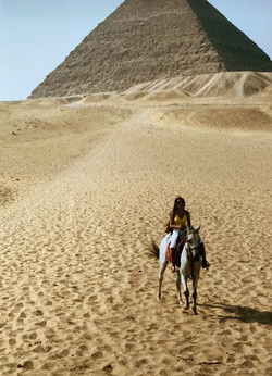 Demi Mann Horse Riding in Egypt, at the Pyramids of Giza