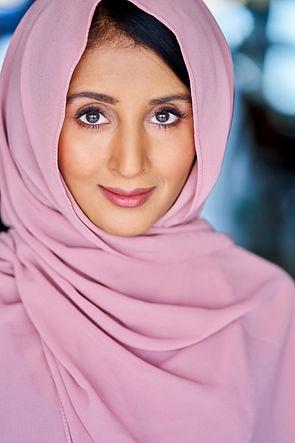 Demi Mann Headshot beautiful pink