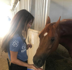 Demi Mann Loves Animals especially horses