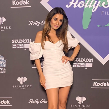 Demi Mann on the Red Carpet at the Oscar Qualifying HollyShorts Film Festival at the TCL Hollywood