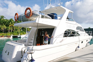 Demi Mann on board the One & Only Reethi Rah Luxury Boat in the Maldives