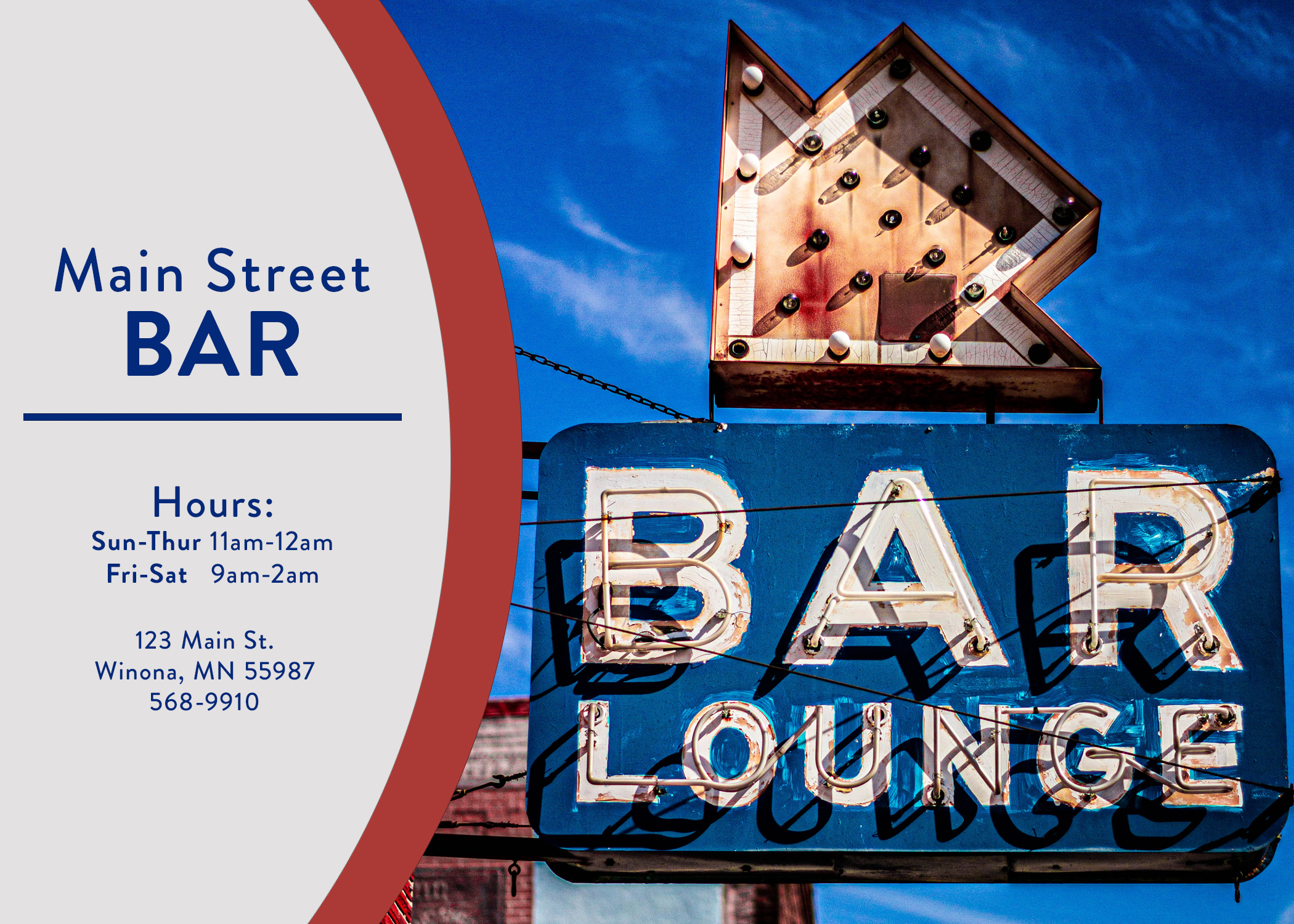 Bar Postcard