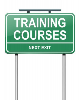 Training courses sign