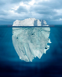Your behaviours and values are like an iceberg