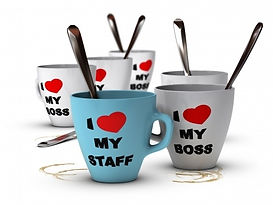 Mugs, I love my boss and I love my staff