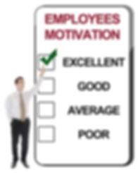 Employee motivation score sheet