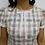 Thumbnail: Vestido Janete Xadrez Creme