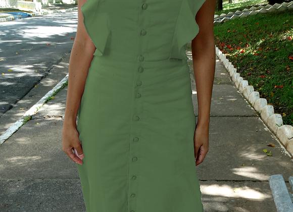Vestido Grécia Verde Musgo