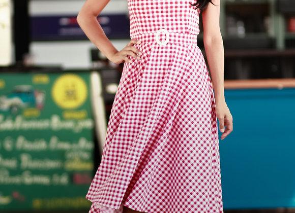 Vestido Jane Xadrez Vichy Vermelho
