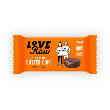 LoveRaw Chocolate Butter Cups - Peanut Butter 34g