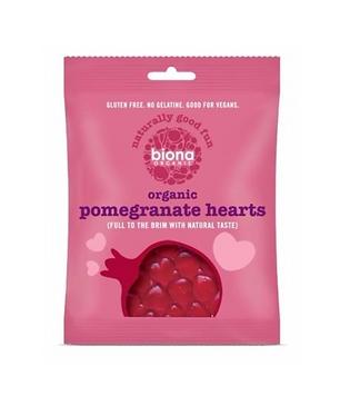 Biona Pomegranate Hearts Organic 75g
