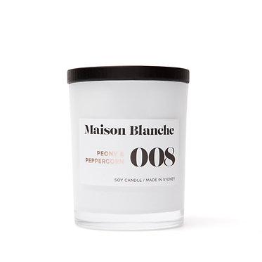 008 Peony & Peppercorn / Medium Candle 200g