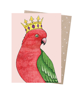 Earth Greetings Greeting Card - Crowned Parrot