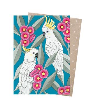 Earth Greetings Greeting Card - Silver Gum Cockatoos