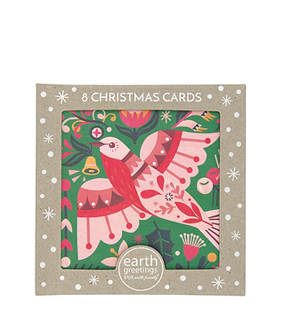 Earth Greetings Boxed Christmas Cards - Flame Robin