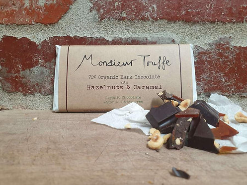 Monsieur Truffe Dark 70% Caramelised Hazelnut 100g