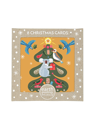 Earth Greetings Boxed Christmas Cards - Tree Of Light