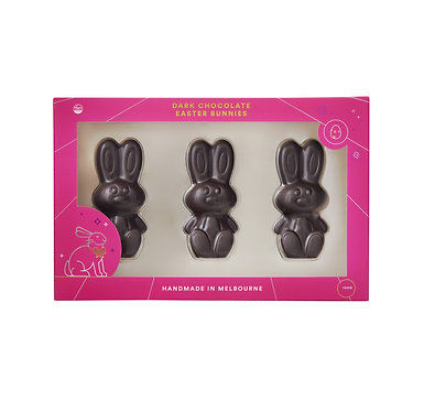 Ratio Cocoa Roasters Dark Easter Bunny Trio 120g