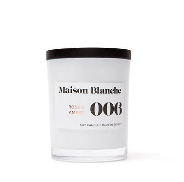 006 Rose & Amber / Medium Candle 200g