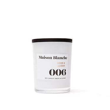 006 Rose & Amber / Small Candle 60g
