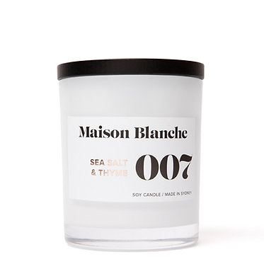 007 Sea Salt & Thyme / Large Candle 400g