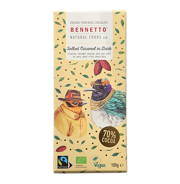 Bennetto Dark Chocolate Salted Caramel Bar 100g