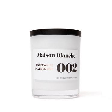002 Paperwhite & Clementine / Medium Candle 200g