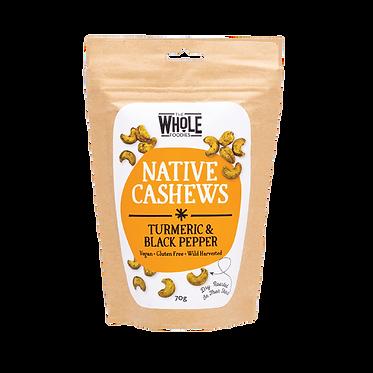 The Whole Foodies Native Cashews Tumeric & Black Pepper 70g