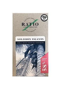 Ratio Cocoa Roasters Solomon Islands Mylk Chocolate 58% 70g