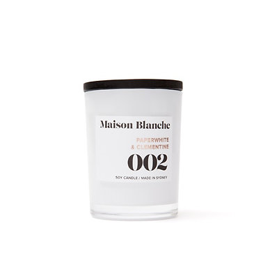 002 Paperwhite & Clementine / Small Candle 60g