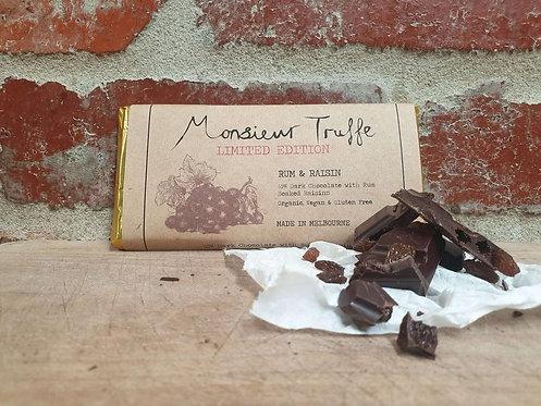 Monsieur Truffe Dark 65% Rum & Raisin 80g