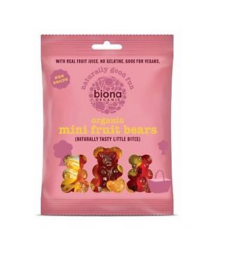 Biona Mini Fruit Bears Organic 75g