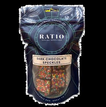 Ratio Cocoa Roasters Dark Chocolate Speckles 200g