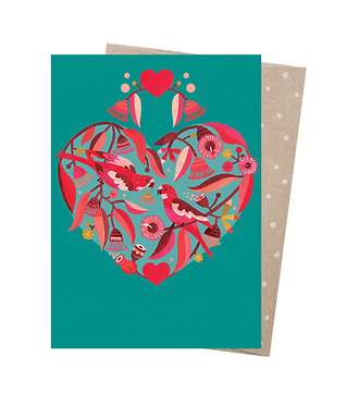 Earth Greetings Greeting Card - Sweetheart Parrots