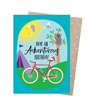 Earth Greetings Greeting Card - Adventurous Birthday