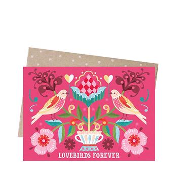 Earth Greetings Greeting Card - Lovebirds Forever