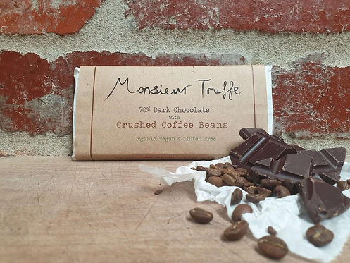 Monsieur Truffe Dark 70% Crushed Coffee Beans 80g